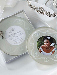 The Difference a Kiss Can Make Frosted-Glass Photo Coasters
