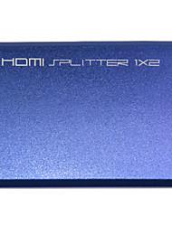 HDMI V1.4 Feminino a 2 Splitter Feminino para Smart LED HDTV / Chromecast / Blu-Ray DVD