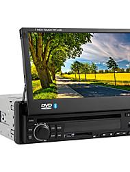 """7 """"1 DIN con pantalla táctil LCD de coches reproductor de DVD en el tablero con la radio del bluetooth, equipo de música, iPod, RDS"""
