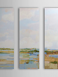 Hand Painted Oil Painting Landscape with Stretched Frame Set of 3 1309-LS0911