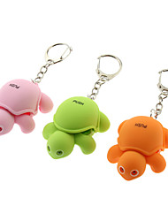 ABS Tortoise Shaped Keychain with LED & Voice (Random Color)