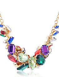 lureme®fashion красочный горный хрусталь дроссель ожерелья