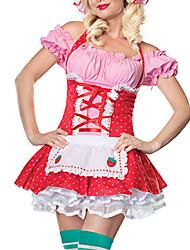 Doce de morango Uniform Maid Garota