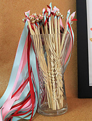 Red&Pink&Green Wedding Ribbon Wand--(Set of 10)