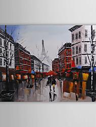 paisagem pintura a óleo com lona quadro esticado 1211-ls0086 pintados à mão