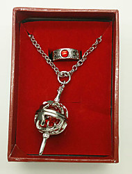 Kyoko Sakura Box-packed Round Kernel Cosplay Necklace and Ring