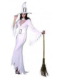 Queer Strega Bianca delle donne del vestito del costume di Halloween