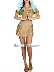 Sexy Women Indian Tribal Princess Hot Dress Halloween Costume(2Pieces)