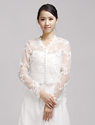 Wedding  Wraps Coats/Jackets Long Sleeve Lace Ivory Wedding / Party/Evening / Casual