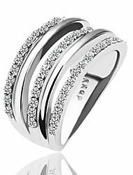 Diamant tchèque, de strass en cristal de Rhinestone Anneau LKN18KRGPR068 vert 18KRGP/le de cuivre
