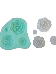 3D Rose Fondant Cake,Food-grade Silicone,Chocolate Candy Soap Mold