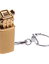 LS625 Portable Electric-plated Butane Lighter with Keychain