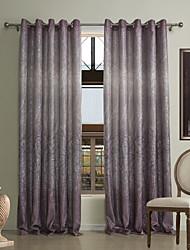 (dois painéis) cortina de poupança de energia ocasional chenille impressão