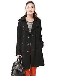 Women's Coats & Jackets , Polyester Casual KARORINLAN