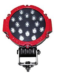 51W 15 LEDs Luz Trabalho Rodada