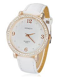 Women's Birds Pattern Dial PU Band Quartz Analog Wrist Watch (White) Cool Watches Unique Watches Fashion Watch Strap Watch