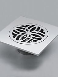 Современная решётка для стока с хромированной отделкой, для ванной комнаты