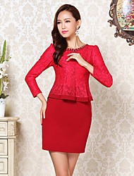 Women's Dresses , Polyester Casual Long Sleeve YEMEN ROSE