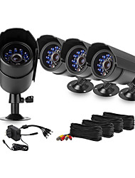 Zmodo® 4 Bullet Day Night 600TVL Home Surveillance Security CCTV Camera System