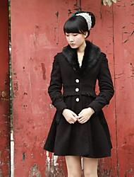 Women's Coats & Jackets , Polyester/Spandex Casual Mooncat