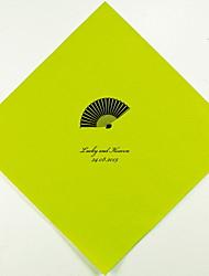 Boda personalizada servilletas Fan (más colores) Juego de 100