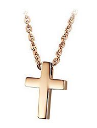 Mme rose croix articles en acier de titane plaqué or
