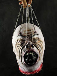 Horrific Hängender Geist Kopf Mit Eisenkette Halloween Prop