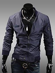 Pied de col mince veste de couleur pure pour homme