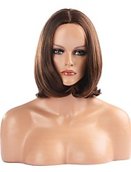 Capless High Quality Synthetic Brown Straight Bob Hair Wigs