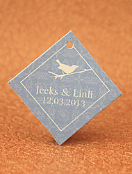Personalized Favor Tags - Bird(set of 30)