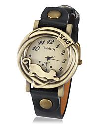 женщин год сбора винограда леопарда кадра PU Группа Кварцевые аналоговые наручные часы (разных цветов)