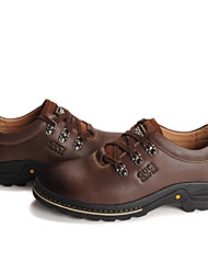 GUCIHEAVEN Men's Coffee Cow Leather England Shoes