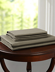 "Simple&Opulence® Fitted sheet, 300 TC 100% Cotton Solid Up to 15"" Deep Coffee"