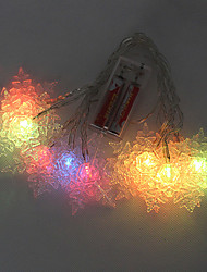 10 LED a pile multicolore String Lights Fata per la festa di Natale (cis-57116)