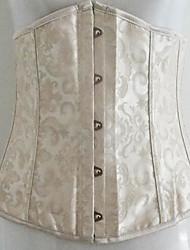 Floral élégant tissu jacquard classique Lolita Corset
