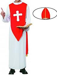 Costumes de Cosplay / Costume de Soirée Cosplay Fête / Célébration Déguisement Halloween Rouge Couleur Pleine Manteau / Cape / Chapeau