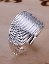 Женское кольцо, из латуни, с серебреным напылением