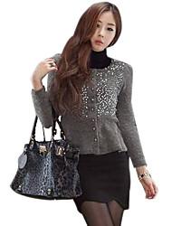 Winter style mince onde Lap jupe courte noire de femmes du fleuve