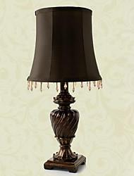 estilo europeu retro esculpida candeeiro de mesa na sombra tecido 220-240v