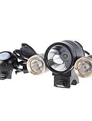 MJ-816E LED Bike Light with Improved Battery Pack and Charger, 1800-Lumen, Black