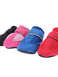 Suede Breathable Mesh Nylon fastener tape Shoes for Pets Dogs (Assorted Colors, Sizes)