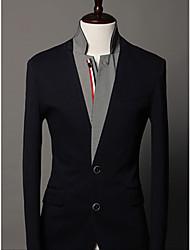 Men's Long Sleeve Blazer , Cotton Blend Pure