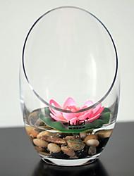 Artistic Graceful Lotus Arrangement In Ceramic Vase