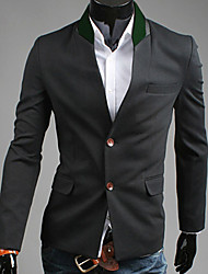 REVERIE UOMO Herren Schwarz 2013 Autumn New Model Korean einzelne Brust Slim Fit Tweed Anzug