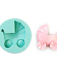Baby Carriage Shape Silicone Mould Cake Decorating Baking Tool
