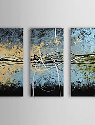 Hand Painted Oil Painting Abstract with Stretched Frame Set of 3 1309-AB0964