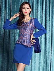 Yémen a augmenté de deux pièces de femmes comme slim fit bleu de robe (de façon aléatoire)