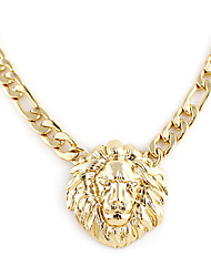 Women's Pendant Necklaces Gold Plated Alloy Fashion Jewelry Wedding Party Daily 1pc