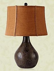 lampe de table moderne et créative en imitation de bois (de petite taille) 220-240v