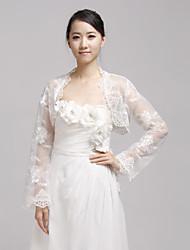 Charming Long Sleeve Lace Evening/Wedding Evening Jacket/Wrap(More Colors) Bolero Shrug